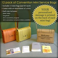 12 Pack Convention Mini Service Bags with by SketchBuch on Etsy, $36.00 OMG these are adorable!