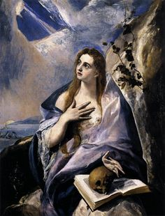 El Greco - Mary Magdalene in Penitence, 1578, oil on canvas, 157 x 121 cm