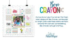 It's time to put your fun hat on! Bon Crayon is an additional 'colour' to the Basic Essentials range of papers and it's the combination of all colours! Scrapbook Paper, Scrapbooking, Cool Hats, Classic Collection, Pattern Paper, Say Hello, All The Colors, Craft Projects, Essentials