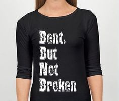 Show your #Scoliosis Pride with this extra soft Bent, But Not Broken T-Shirt! Before ordering, please check below to ensure your size is in stock. All