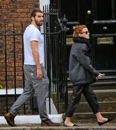 Emma Watson stepped out in West London with her beau Matthew Janney