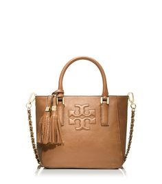 Tory Burch Thea Mini Bucket Bag in Brown (BARK)
