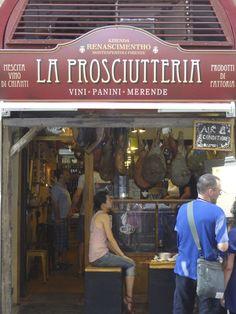 La Prosciutteria in Firenze, Via dei Neri.