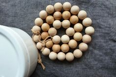 Simple and beautiful: wooden bead trivets by a merry mishap.