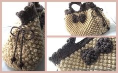 Astrakhan stitch crochet bag - free pattern