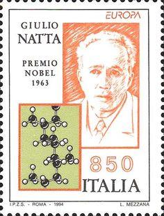 """1994 - """"Europa Unita"""": Le scoperte - Giulio Natta, ingegnere chimico, premio Nobel per la chimica del 1963 e Struttura del propopilene"""