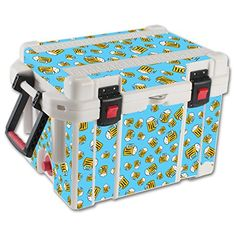 MightySkins Protective Vinyl Skin Decal for Pelican 45 qt Cooler wrap cover sticker skins Beer Tile * Read more  at the image link.