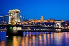 """Danube & the chain bridge - Budapest"" by Hercules Milas Love Bridge, Budapest City, Old Greek, Danube River, Royal Palace, Hercules, Bridges, Travel Mug, Chain"