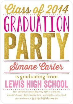 Glimmering #Grad - #Graduation Invitations - Ann Kelle - Coral - Pink