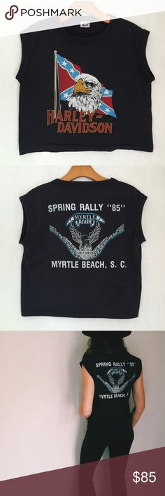 Vintage Harley Davidson Muscle Shirt Vintage Harley Davidson Muscle Shirt  ▪️Spring Rally '85 ▪️Labeled men's M fits like men's small  ▪️Somewhat cropped and boxed fit  ▪️50/50 Cotton Poly Blend  ▪️Circa 1985 🇺🇸 MADE IN USA ‼️Listed as Nasty Gal for views.     🚫 Trades 👍🏻 Offers  💸 Bundle and Save 15% Nasty Gal Tops Muscle Tees