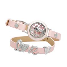 """PASTEL PINK GENUINE LEATHER WRAP BRACELET 7 1/2 - 9"""" New!  $16.00  Be tickled pink by the fun, fresh and feminine hue of our Pastel Pink Genuine Leather Wrap Bracelet. Dress up your favorite Medium Wrap Twist Living Locket™ and add a Slider to this Bracelet for a look that is truly you!"""