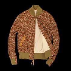 UNIONMADE - golden bear - Balboa Jacket in Black Foral Corduroy $250