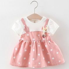Party Dresses With Sleeves, Baby Girl Party Dresses, Toddler Girl Dresses, Girls Dresses, Dress Girl, Dress Party, Dot Dress, Casual Dresses, Princess Costumes For Girls
