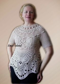 VENICE blouse.   Irish crochet &