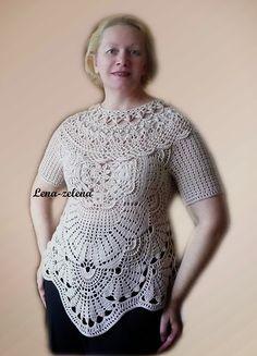 Irish crochet &: VENICE blouse.