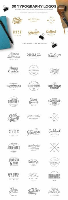 Logo Creation Kit Bundle Edition by Zeppelin Graphics. Download here --> https://crmrkt.com/Kwrjl