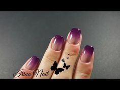 💅 Purple ombre | Irina Nail - YouTube Purple Ombre, Make It Yourself, Tattoos, Nails, Youtube, Nice Asses, Finger Nails, Tatuajes, Ongles