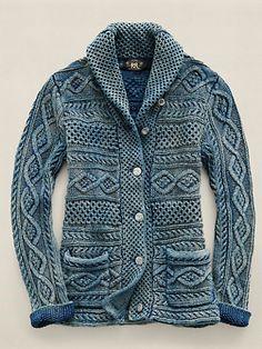 Guernsey Shawl-Collar Cardigan - Cardigans Sweaters - Ralph Lauren France