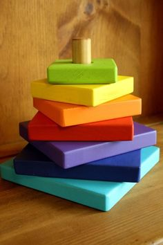 Wooden Stacker DIY - Perfect for those scrap pieces of wood!! Cute toy to make for our kids.