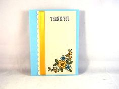 Floral Thank You card - image by Stampin' Up!  https://www.etsy.com/shop/moww