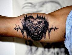 30 Soundwave Tattoo Designs for Men – Acoustic Ink Ideas … - Tattoo Catalog Tigergesicht Tattoo, Bicep Tattoo Men, Inner Bicep Tattoo, Spine Tattoos, Celtic Tattoos, Body Art Tattoos, Sleeve Tattoos, Inspiration Tattoos, Best Tattoos For Women