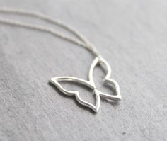 I want.......Graceful  sterling silver butterfly necklace by Hibiscusdays, $22.00