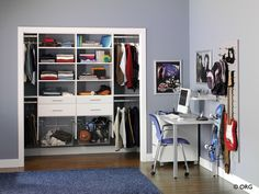 Great closet for a teenage boy.