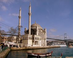 Ortaköy Mosque and the bridge.European side.İstanbul!