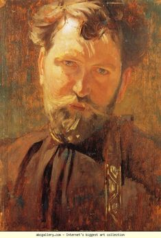 Alphonse Mucha. Self-Portrait.