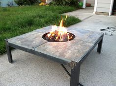 Fire Table Welding Project. Feel the heat. Josh can make this for me!...