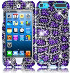 For Apple Ipod Touch 5 Generation Full Diamond Bling Cover Case Purple Leopard Accessory Ipod Touch Cases, Ipod Cases, Ipod Touch 6th Generation, Cute Cases, Phone Accessories, Jazz, Ipad, Bling, Apple