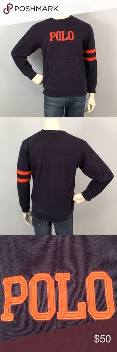 """Polo Ralph Lauren vintage Sweater size Med-XL This vintage sweater is in decent condition considering it's age. There is loose thread at the top of the pocket on the right side. Could be repaired easily as there is no damage to the fabric. Great classic look. The size is XL but it is more like a medium  or Large. Chest measures 21"""", Underside of Sleeve is 18"""" and it is 25"""" tall. Please feel free to ask further questions and all offers will be considered. Polo by Ralph Lauren Sweaters…"""