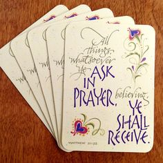 """2""""x3"""" Pass it on card of Matthew 21:22 makes a great extra to enclose in a greeting card or for use as an inspiring gift tag."""