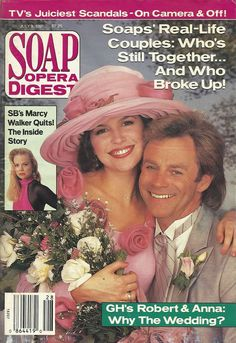 classicsodcovers:  Classic SOD Cover Date: July 9, 1991 Finola Hughes & Tristan Rogers (Anna & Robert, GENERAL HOSPITAL)(inset) Marcy Walker (Eden, SANTA BARBARA)