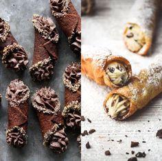 Chocolate or Vanilla Bean Cannoli? Tap to vote http://sms.wishbo.ne/U1ak/ynvhtgBmJC