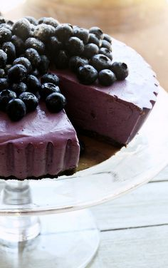 "Blueberry Cheesecake | By: Simply Scandinavian | ""Blueberry Cheesecake"" is perfect to try now since blueberries are so plentiful and the recipe required no cooking — something that appeals to many home cooks. 