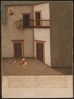 Philadelphia Museum of Art - Collections Object : Fall from a Balcony c. 1803 artist unknown