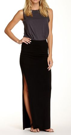 Mel Maxi Skirt. a slit up to there