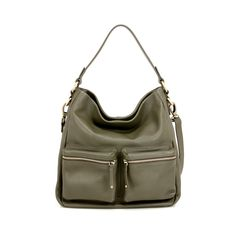 Beamish luxury leather slouchy bucket hobo handbag