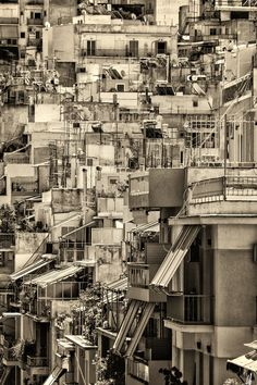 A concrete jungle in some points.This is what it feels like in Athens too. My Athens, Athens Greece, Travel Around The World, Around The Worlds, Urban Fabric, Industrial Photography, Concrete Jungle, Greece Travel, Beautiful Islands
