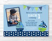 Nautical Sailboat Birthday Invitation by LittlePrintsParties