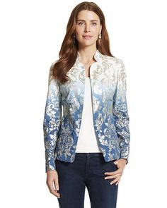 Chico's Novelty Foiled Jacket #chicos