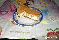 Túrós-karamellás szelet | NOSALTY Hungarian Recipes, Hungarian Food, Pancakes, Paleo, Pudding, Sugar, Breakfast, Deserts, Caramel