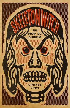 Skeletonwitch poster by Matt Reedy, via Behance
