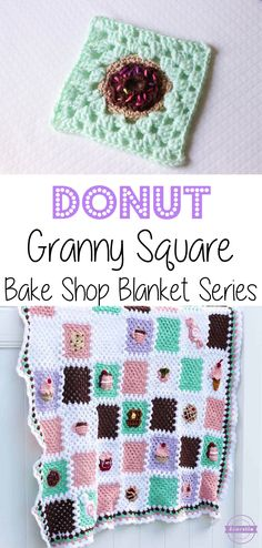 Crochet Donut Granny Square: Bake Shop Blanket Series | Free Pattern from Sewrella