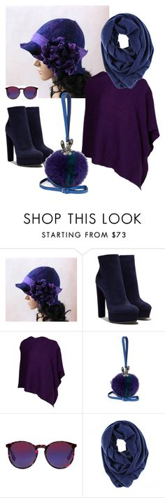 """Purple navy"" by esartfelt ❤ liked on Polyvore featuring Casadei, Kinross, MCM, McQ by Alexander McQueen and Black"