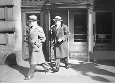 Al Capone, preceded by an unidentified man, exits a revolving door at an unidentified location in Chicago, From the Chicago Daily News Collection. Real Gangster, Mafia Gangster, Chicago Outfit, Movie Producers, The Valiant, Al Capone, Chicago Pd, Roaring Twenties, Back In The Day