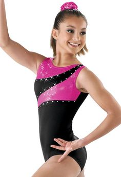 New Asymmetrical Red Black Strappy Dance Gymnastics Baton Leotard Child Small CS 4-6