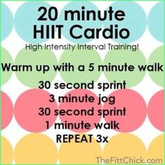 Fat Burning HIIT Cardio Workout – High Intensity Interval Training with Warm Up & Cool Down Treadmill Workouts, Running Workouts, Easy Workouts, Cardio Hiit, Cardio Fitness, Running Intervals, Hiit Abs, Weekly Workouts, Hitt Workout