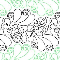 "Wedding Bouquet - Paper - 12"" - Quilts Complete - Continuous Line Quilting Patterns"